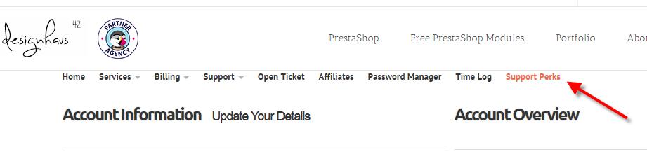 PrestaShop Support Perks