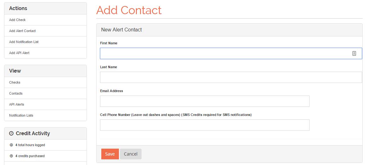 Server Alert Contact
