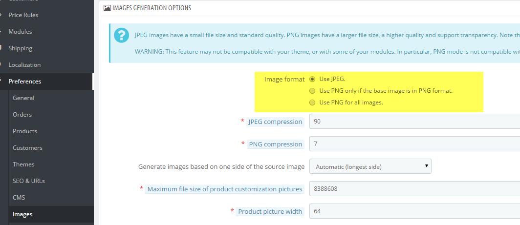 Enabling PNG (transparent) Images