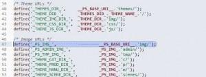 Prestashop defines file