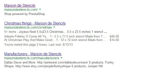 SEO Results Prestashop