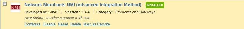 Prestashop NMI Payment