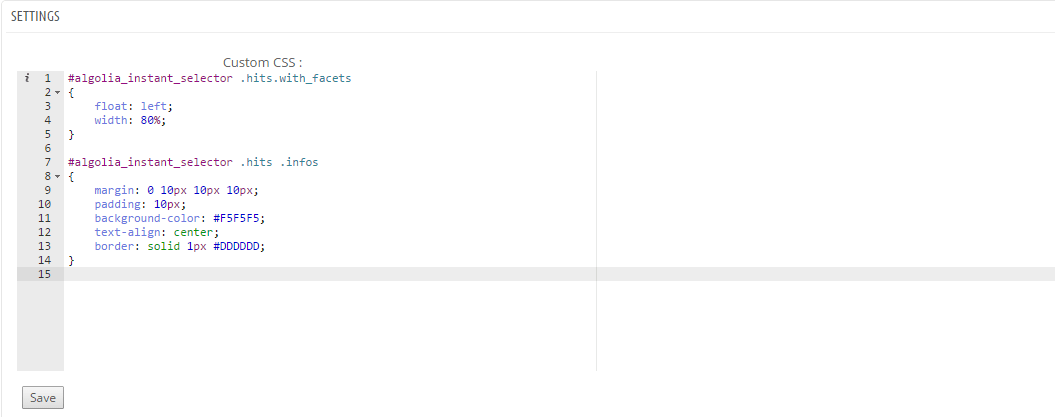 PrestaShop CSS Editor