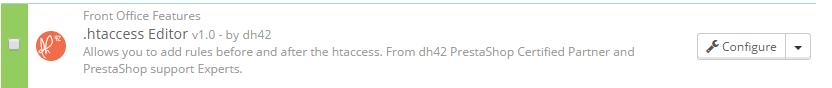PrestaShop htaccess Module