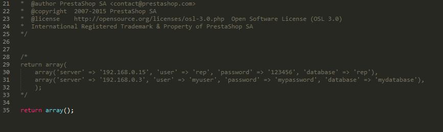 PrestaShop Slave Database