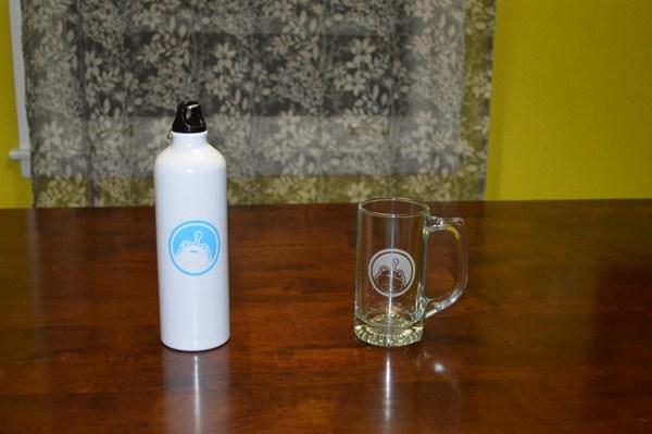 Moz Water Bottle and Beer Mug