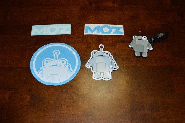 Moz Stickers and Cloth