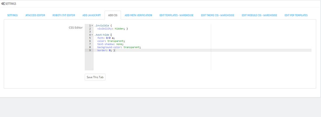 PrestaShop Editor Module