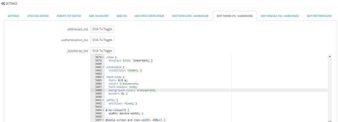 PrestaShop Editor - Edit CSS files, JS files, Template files, and ...